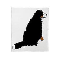 Sitting Bernese Mountain Dog Throw Blanket