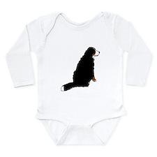 Sitting Bernese Mountain Dog Long Sleeve Infant Bo