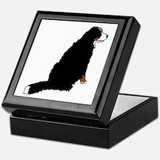 Sitting Bernese Mountain Dog Keepsake Box