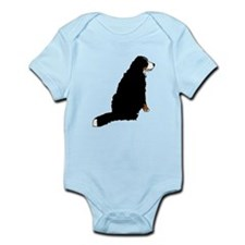Sitting Bernese Mountain Dog Infant Bodysuit