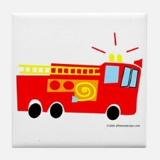 One Fire Truck! Tile Coaster