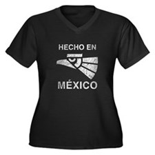 Hecho en Mexico Women's Plus Size V-Neck Dark T-Sh