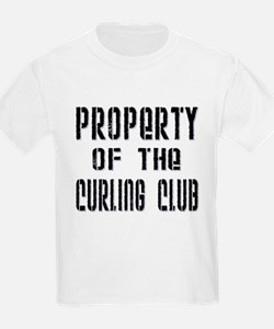 Property of the Curling Club Kids T-Shirt