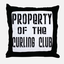 Property of the Curling Club Throw Pillow