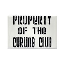 Property of the Curling Club Rectangle Magnet