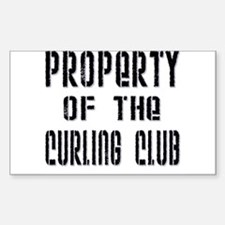 Property of the Curling Club Rectangle Decal