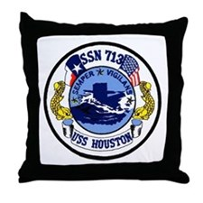 USS Houston SSN 713 Throw Pillow