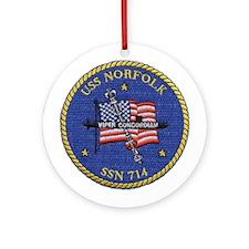 USS Norfolk SSN 714 Ornament (Round)