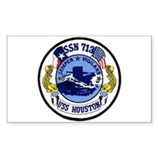 USS Houston SSN 713 Rectangle Decal