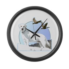 Labradors Large Wall Clock