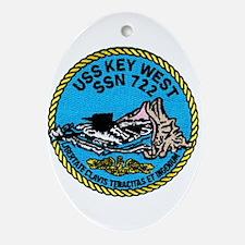 USS Key West SSN 722 Oval Ornament