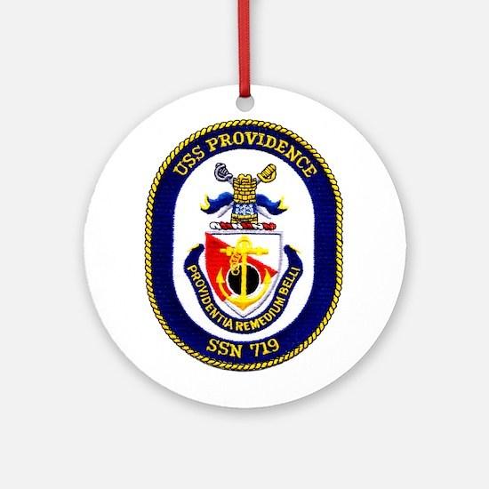 USS Providence Ornament (Round)