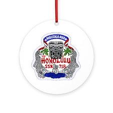 USS Honolulu SSN 718 Ornament (Round)