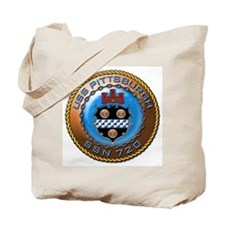 USS Pittsburgh SSN 720 Tote Bag