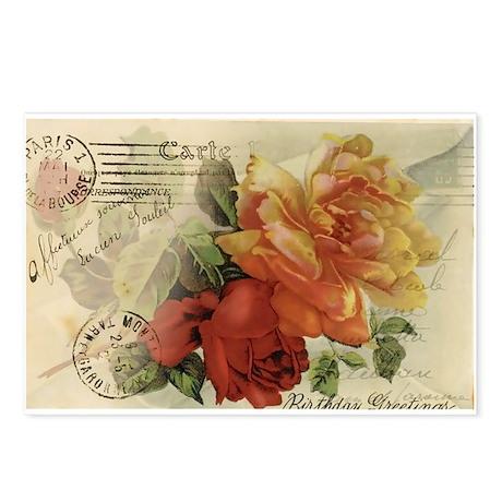 VINTAGE PARIS ROSES Postcards (Package of 8)