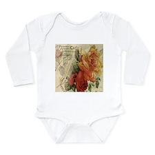 VINTAGE PARIS ROSES Long Sleeve Infant Bodysuit