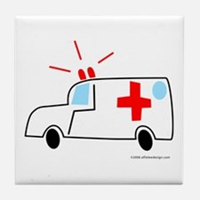 One Ambulance! Tile Coaster