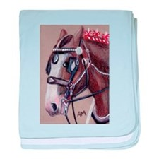 SHIRE HORSE 1 baby blanket