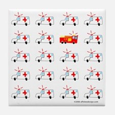 One of These Ambulances! Tile Coaster