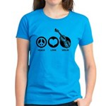 Peace Love Violin Women's Dark T-Shirt