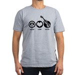 Peace Love Violin Men's Fitted T-Shirt (dark)