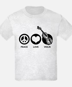 Peace Love Violin T-Shirt