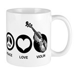Peace Love Violin Mug