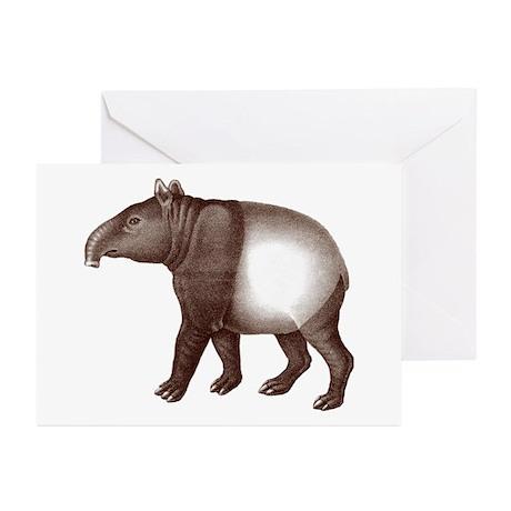 Malayan Asian Tapir Greeting Cards (Pk of 10)