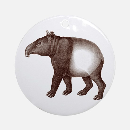 Malayan Asian Tapir Ornament (Round)