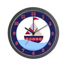 Little Sailboat Wall Clock