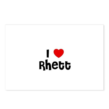 I * Rhett Postcards (Package of 8)
