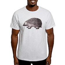 Hedgehog Antique Engraving T-Shirt