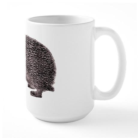Hedgehog Antique Engraving Large Mug