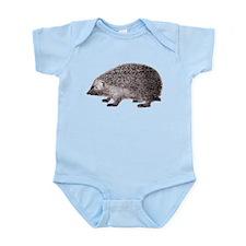 Hedgehog Antique Engraving Infant Bodysuit