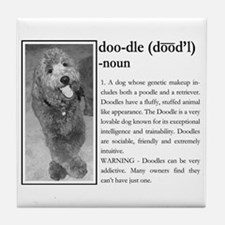 Unique Australian labradoodle Tile Coaster