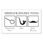 Sherlock Holmes' Tools Sticker (Rectangle)
