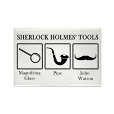 Sherlock Holmes' Tools Rectangle Magnet