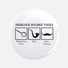 "Sherlock Holmes' Tools 3.5"" Button"