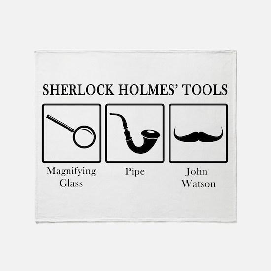 Sherlock Holmes' Tools Throw Blanket