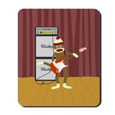 Sock Monkey Guitar Mousepad