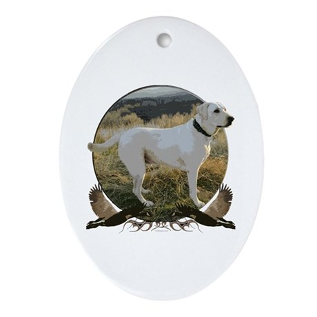 Yellow lab Ornament (Oval)