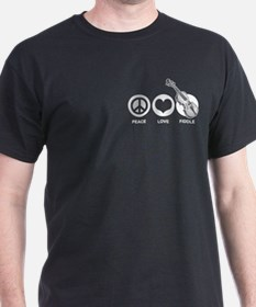 Peace Love Fiddle T-Shirt