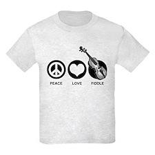 Peace Love Fiddle T-Shirt