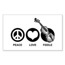 Peace Love Fiddle Decal
