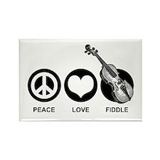 Peace Love Fiddle Rectangle Magnet