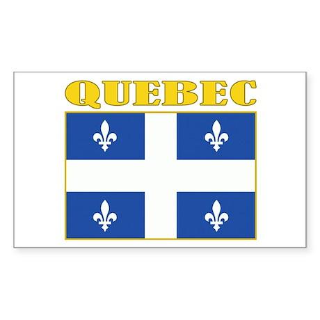 Quebec Flag Sticker (Rectangle)
