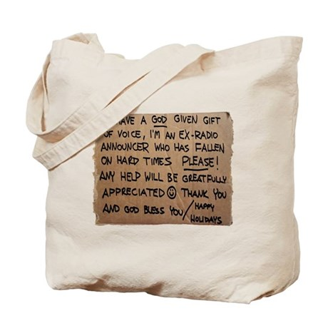 Homeless Radio Voice Tote Bag