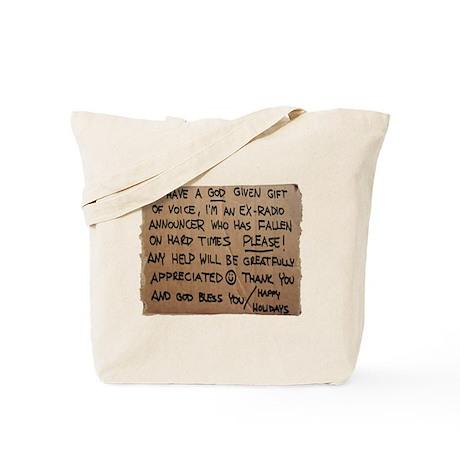 Homeless Radio Voice Tote Bag