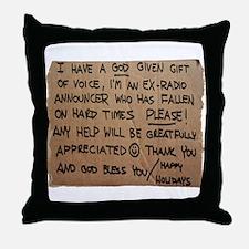 Homeless Radio Voice Throw Pillow