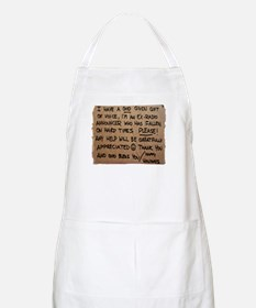 Homeless Radio Voice Apron